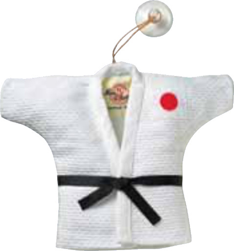 Mini Judo Jacket and Belt Mascot (White)