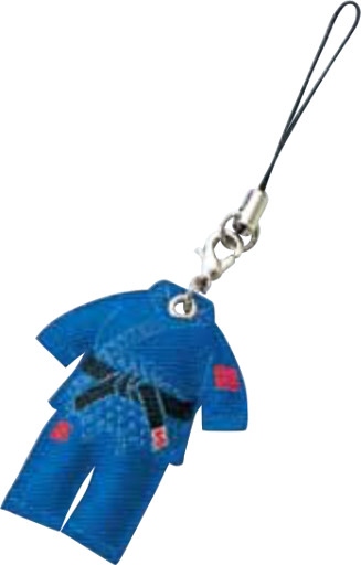 Cell Phone Strap Judogi (Blue)